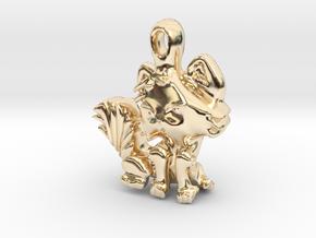 Kitty Cat pendant in 14K Yellow Gold