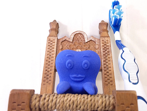 Toothbrush Holder (Man) in Blue Processed Versatile Plastic
