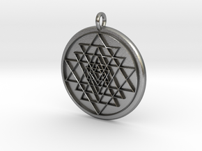 Sri-Yantra in Natural Silver
