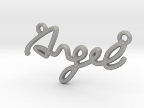 ANGEL Script First Name Pendant in Raw Aluminum