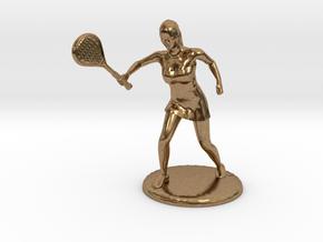 Tennis Girl in Natural Brass