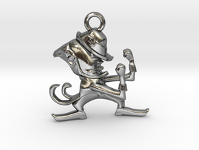 Fighting Irish Pendant in Polished Silver