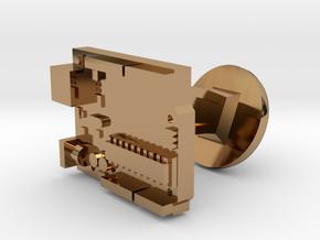 Arduino Cufflink in Polished Brass