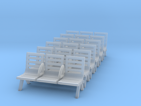 Modern Seat - Type 3 X 6 - N Scale in Smooth Fine Detail Plastic