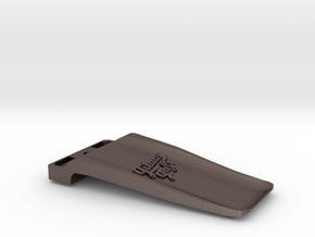 Boss FA-1 / MA-1 Belt Clip in Polished Bronzed Silver Steel