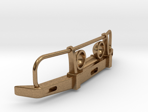 RC Toyota Hilux Bullbar with Lights 1:24 scale in Natural Brass