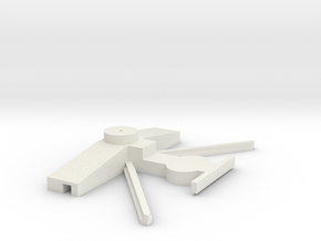 1:64 S Scale Model Train AF Conversion Bolster Hop in White Natural Versatile Plastic