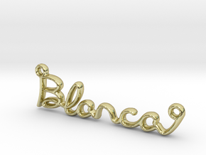 BLANCA Script First Name Pendant in 18k Gold Plated Brass
