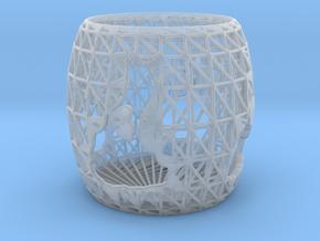 3D Printed Block Island Tea Light 2 in Smooth Fine Detail Plastic