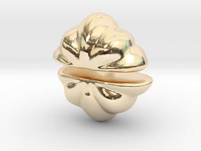 Fairytale Pumpkin Stud Earrings in 14K Yellow Gold