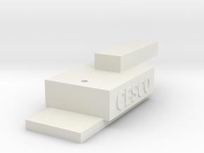 HOn3 Coupler Gauge in White Natural Versatile Plastic: Medium