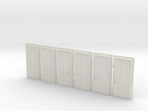 Door Type 5 - 760 X 2000 X 6 in White Natural Versatile Plastic: 1:76