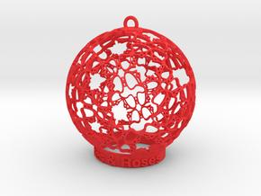 Roses & Roses Ornament in Red Processed Versatile Plastic