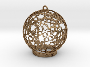 Roses & Roses Ornament in Natural Brass