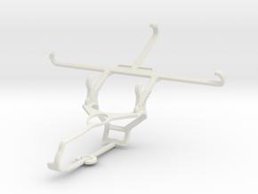 Controller mount for Steam & alcatel Flash Plus 2  in White Natural Versatile Plastic