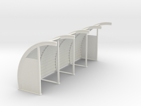 Quonset 4 6ft Panels 10ft - 72:1 Scale in White Natural Versatile Plastic