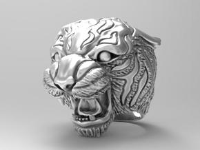 Tiger ring size 7 3/4 in Natural Silver