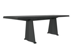 Trapeze Table - Jean Prouve in White Strong & Flexible: 1:24