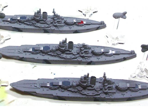 USS Mississippi 1/1800 in Black Hi-Def Acrylate