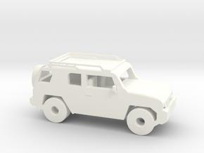 FJ Cruiser 6'' Long in White Processed Versatile Plastic