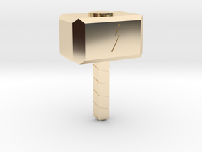 Thor Hammer Small in 14K Yellow Gold