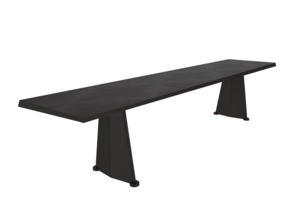 Trapeze Long Table - Jean Prouve in White Strong & Flexible: 1:24