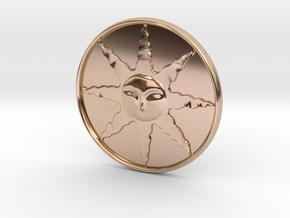 Sunlight Medal in 14k Rose Gold