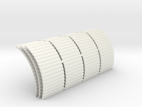 Quonset Corrugation Panels - 72:1 Scale in White Strong & Flexible