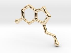 Molecules - Serotonin in 14k Gold Plated Brass