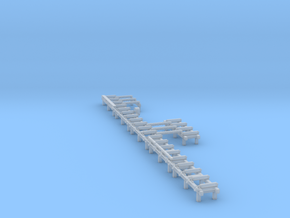 HO Roller Tables with Transfer Beams in Smooth Fine Detail Plastic