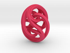 Noom Pendant in Pink Processed Versatile Plastic: Small