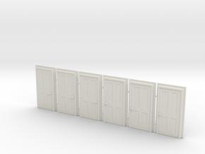 Door Type 5 - 900 X 2000 X 6 in White Natural Versatile Plastic: 1:87