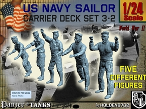 1-24 US Navy Carrier Deck Set 3-2 in White Strong & Flexible