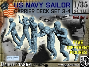 1-35 US Navy Carrier Deck Set 3-4 in Frosted Ultra Detail