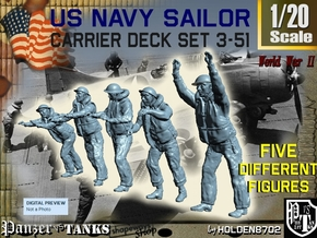 1-20 US Navy Carrier Deck Set 3-51 in White Natural Versatile Plastic