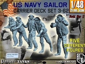 1-48 US Navy Carrier Deck Set 3-62 in Smooth Fine Detail Plastic