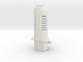 gaming tank heavy plasma cannon in White Natural Versatile Plastic