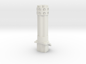 Gaming tank gatling cannon in White Natural Versatile Plastic