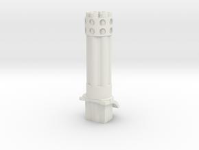 Gaming tank gatling cannon in White Natural Versatile Plastic