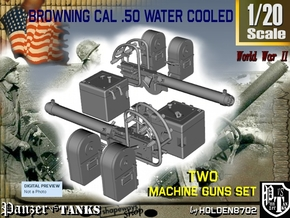 1-20 Cal 50 M2 Water Cooled Set in Frosted Ultra Detail