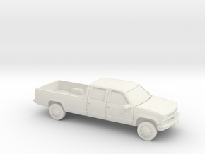 1/87 1989-99 Chevy Crew Cab in White Natural Versatile Plastic