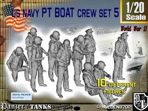 1-20 US Navy PT Boat Crew Set5 in White Strong & Flexible