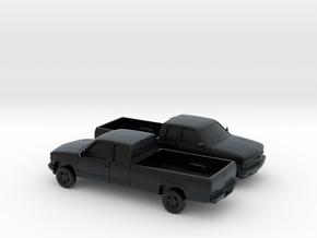 1/160 2X 1994 Chevrolet Silverado Ext. Cab Lon in Black Hi-Def Acrylate