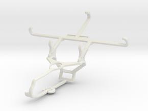 Controller mount for Steam & Lenovo ZUK Z2 - Front in White Natural Versatile Plastic
