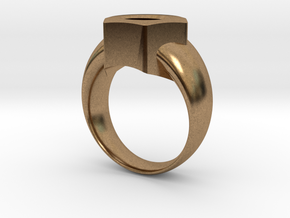 Bague Ecrou - 15 in Natural Brass