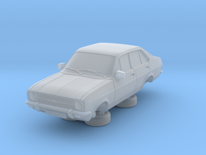 1:87 escort mk 2 4 door rs round headlights in Smooth Fine Detail Plastic