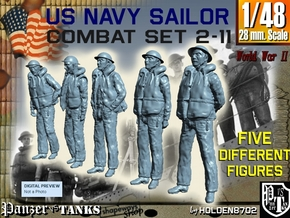 1-48 US Navy Sailors Combat SET 2-11 in Frosted Ultra Detail
