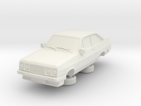 1-76 Escort Mk 2 2 Door Rs 2000 in White Natural Versatile Plastic