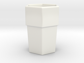 Hexagon Espresso Cup in Gloss White Porcelain