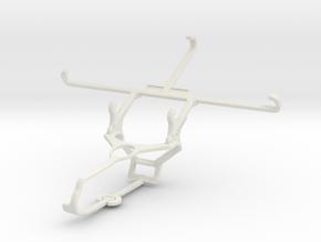 Controller mount for Steam & LG V20 - Front in White Natural Versatile Plastic